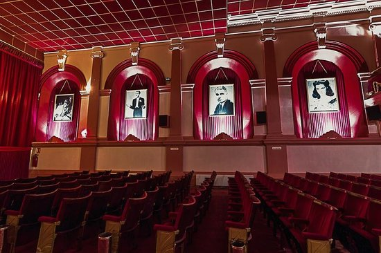 Silver Screen Cinema: The stars of yesteryear line the walls of Cinema 1.