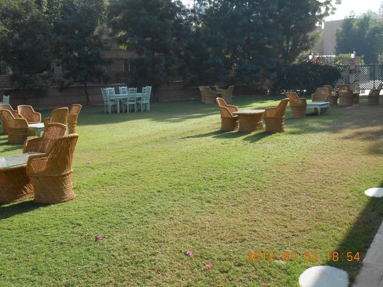 Polo Heritage Hotel: Lawn