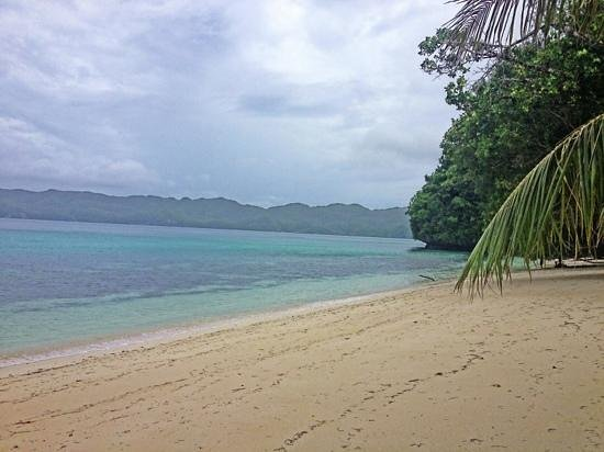 Koror Island, Palau: beautiful beach