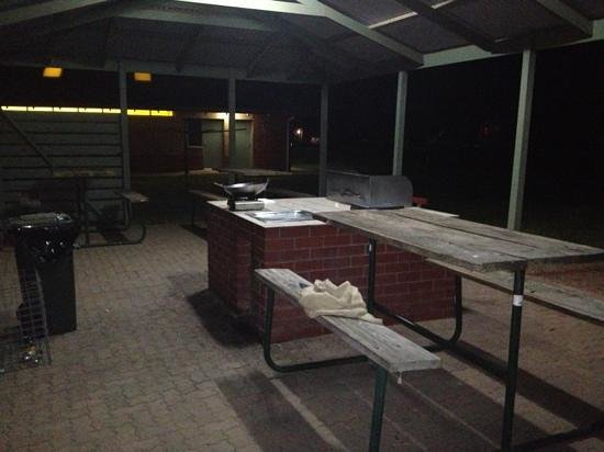 Port Pirie, Australien: camp kitchen