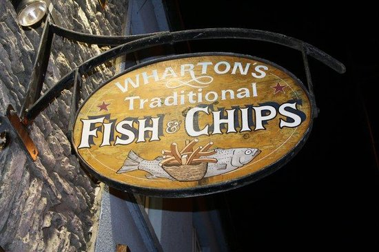 Whartons Traditional Fish & Chips : Easy to find on Kenmare's main strip!