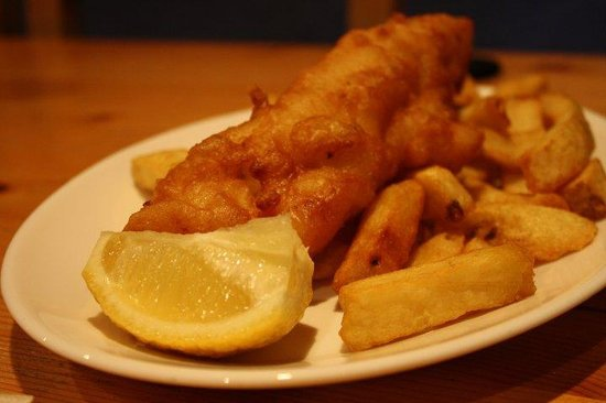 Whartons Traditional Fish & Chips : Gorgeous and delicious.