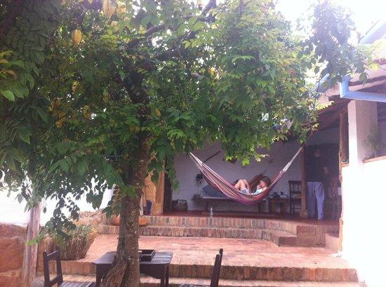 El Carambolo: zona de hamacas, relax