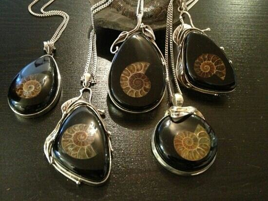 Monkeypuzzle Gems: ammonite pendants
