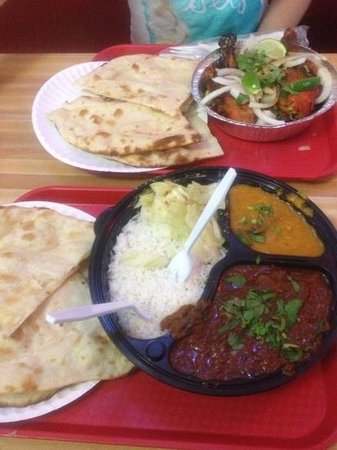 Bombay cafe: lamb curry combo and forget the name chicken