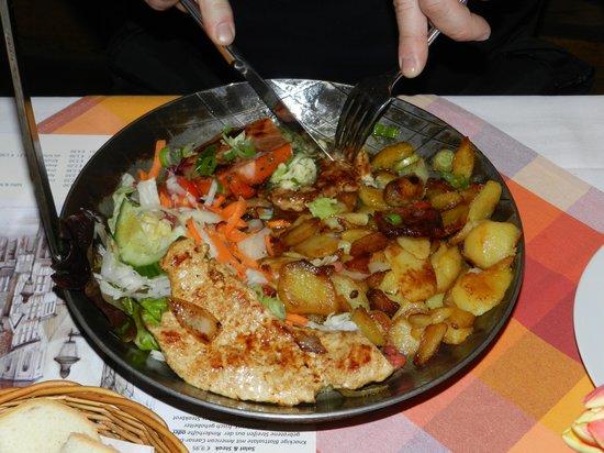 Anders das Pfannenrestaurant: mmm, pan-fried potatoes