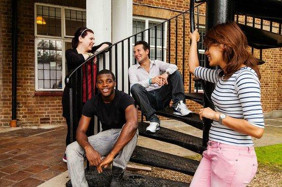 Greenview Hostel: The stairway!