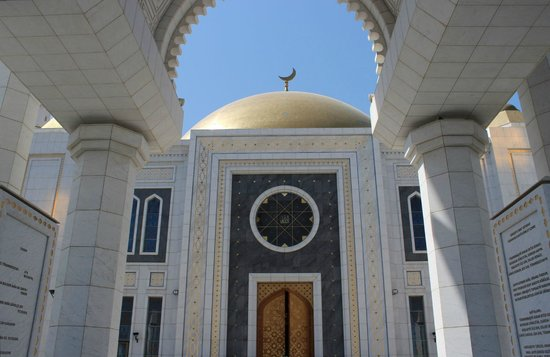 Ashgabat: Gypjak Mosque (Türkmenbasy Ruhy Metjidi)