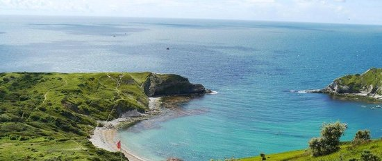 Bishops: lulworth cove on a beautiful sunny day