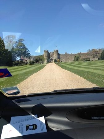 Amberley Castle: The drive up
