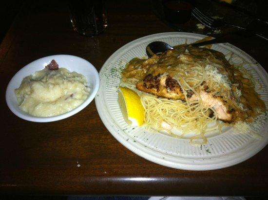Crabdaddy's Seafood Grill : My Dinner--Salmon