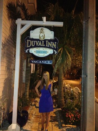 The Duval Inn Entrance sign