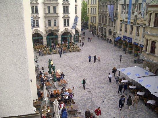 Platzl Hotel: vue fenetre