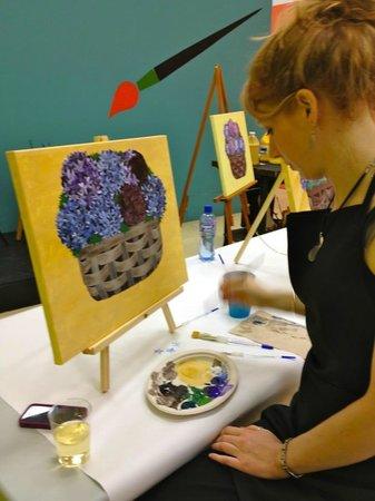 Artfully Yours Paint Bar: IN PROGRESS HYDRENGA