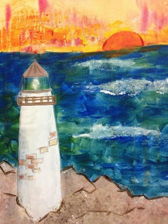 Artfully Yours Paint Bar: Contemporary light house. The NEW Cape Cod