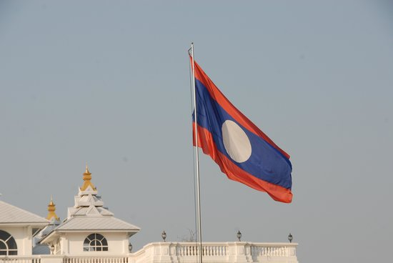 Presidential Palace: Lao Flag