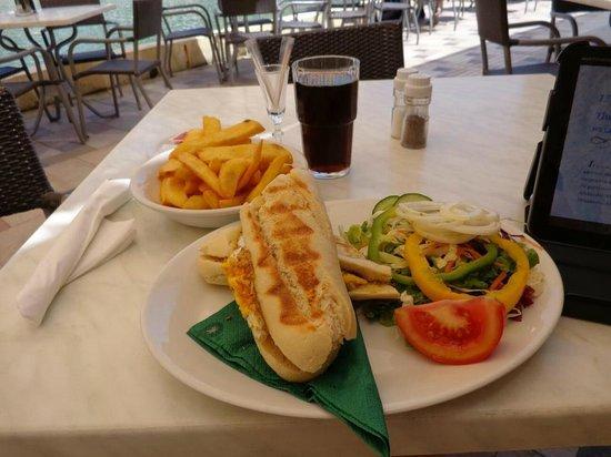 Churchill Restaurant: Breakfast baguette.