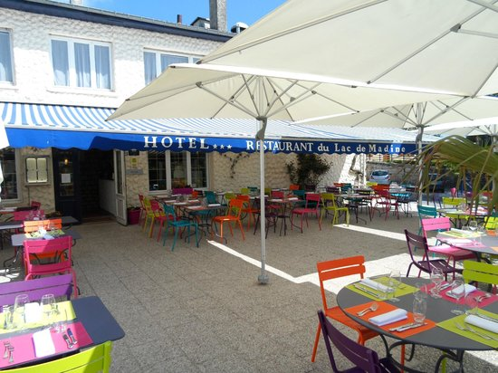 Hotel du Lac de Madine: la terrasse