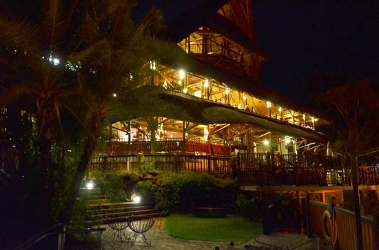 Victoria Falls Safari Lodge: Night view from the pool area