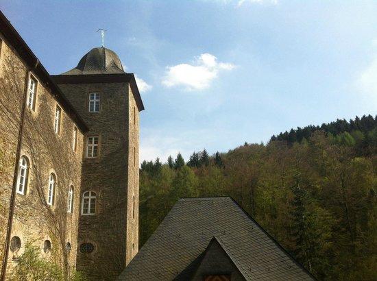 Burghotel Schnellenberg: Blick auf die Zimmerfront