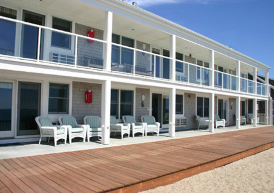 North Truro, MA: View of rooms from beach