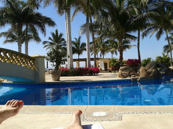 Lovely pool view at Las Mananitas