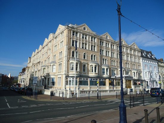 Imperial Hotel: The front and side from the prom.