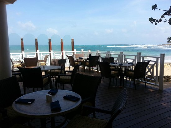 Magdalena Grand Beach & Golf Resort: view from dining deck