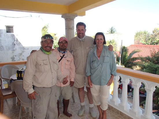Fisherman Fishing Lodge: Us and the guides F&D