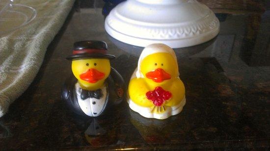 ستارفيش مانور أوشنفرونت هوتل: Wedding rubber ducks that the hotel provided! So cute!