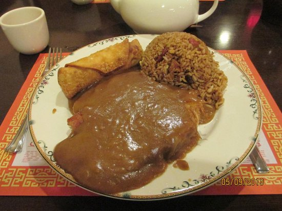 Hong Kong Garden: #2 Egg Roll, Egg Foo Young and Fried Rice