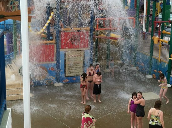 Waterparks in french lick, girl touching vigina