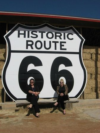 Photo op at gas station near Hualapai Lodge on Historical Route 66