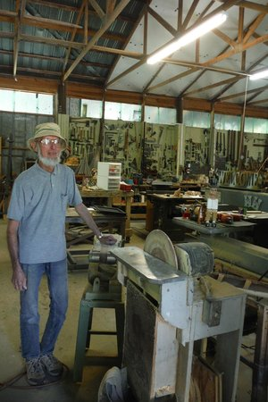 Solomon's Castle: Howard Solomon in his workshop