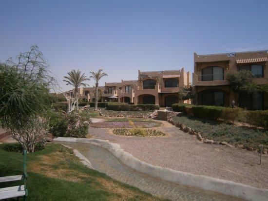 La Hacienda Beach Hotel: greens of the resort