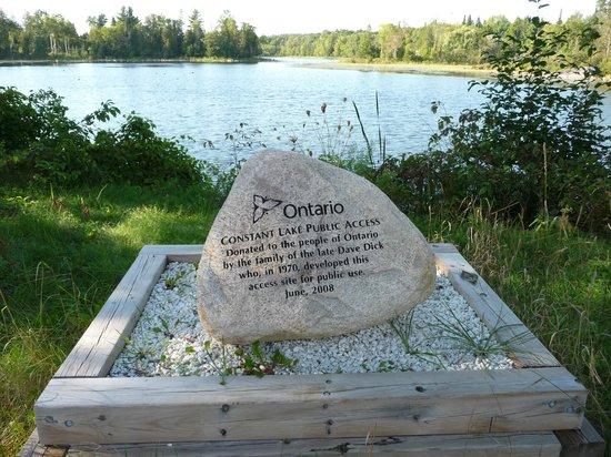Bonnechere Caves : Constant Lake dedication stone