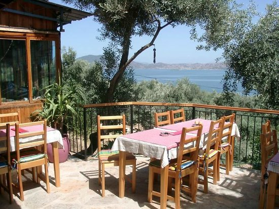 Hotel Silva Oliva: Restaurant with view on Lake Bafa