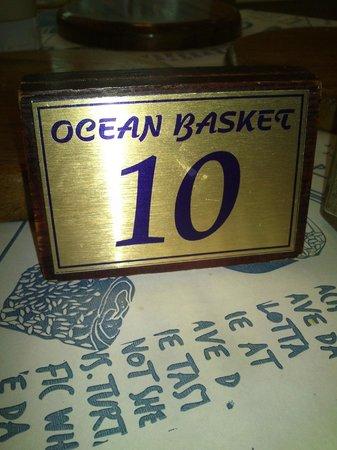 Ocean Basket: Table 10