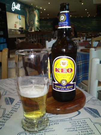 Ocean Basket: The local KEO beer