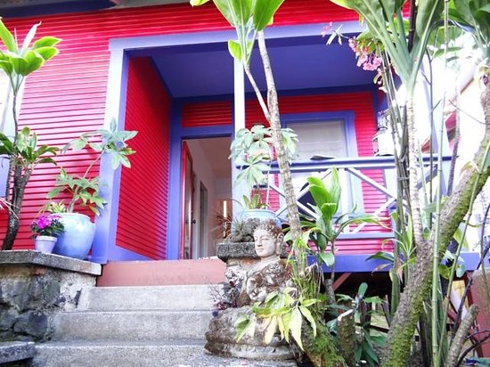 The Lotus Garden Hilo: The front entrance to The Sugar Shack - so bright and colorful