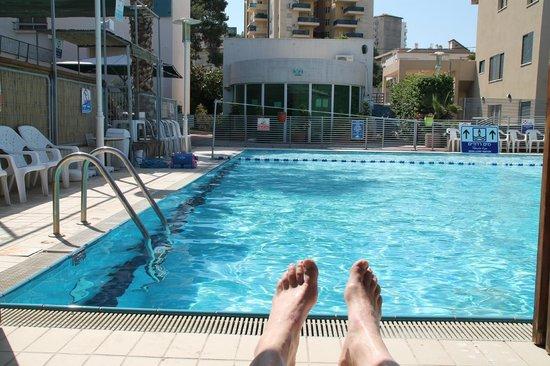 Arcadia Hotel Tiberias: The arcadia hotel pool.