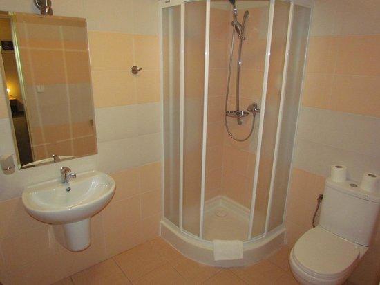 Hotel Brixen Prague: the nice modern bathroom