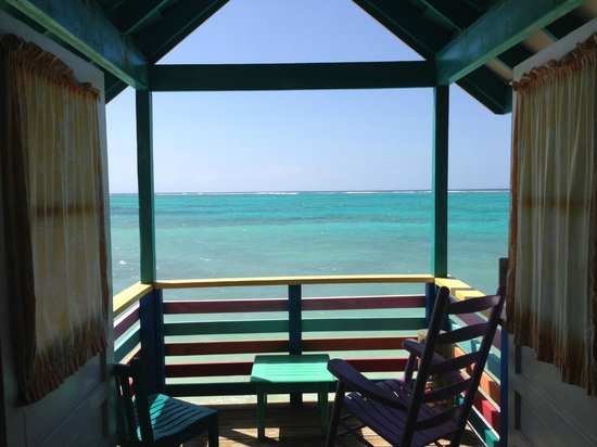 Compass Point Beach Resort: View from seafront hut #114