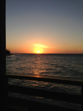 Compass Point Beach Resort: Another perfect sunset as seen from our room