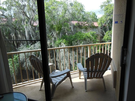 Wyndham Garden Gainesville: Lovely balcony, but too loud to use