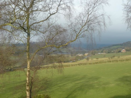 """Barnfield House: View up the Loxley valley from """"Robin of Loxley"""" in March 2013"""