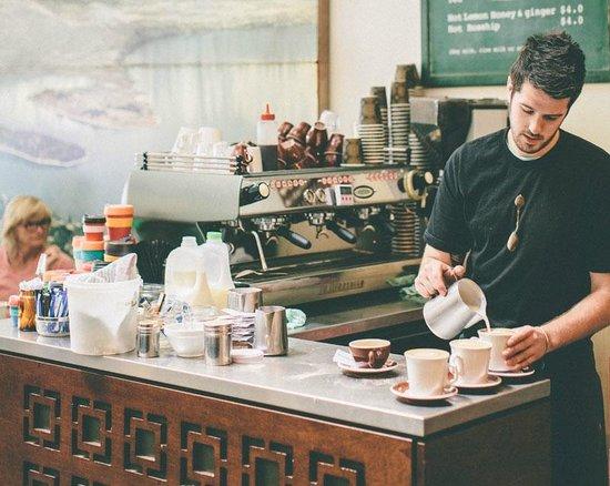Vudu Cafe & Larder: Barista at Vudu Cafe and Larder