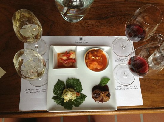 Marimar Estate Vineyards and Winery: Tapas and Tasting....YUM!
