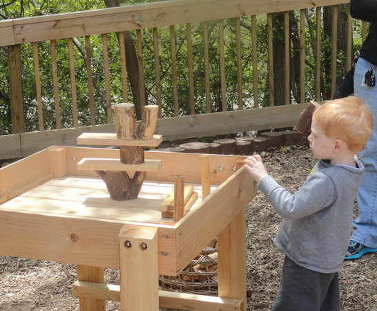 Newport News, VA: Building with natural blocks in the Children's Play Area