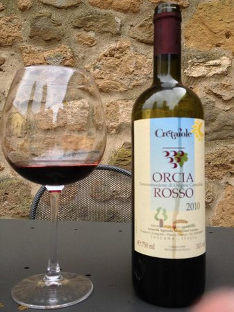 Locanda di CasalMustia: The local vino rosso